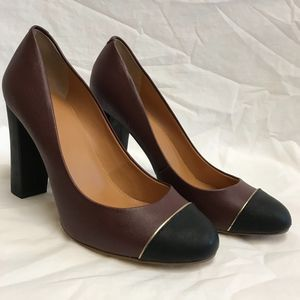 J. Crew Two Toned Leather Heels - Size 7